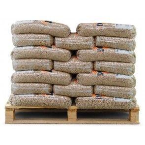 Bruine houtpellets 50 zakken a 10kg