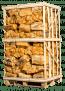 2 kuub berkenhout in netten