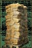 Gedroogd elzenhout in netten